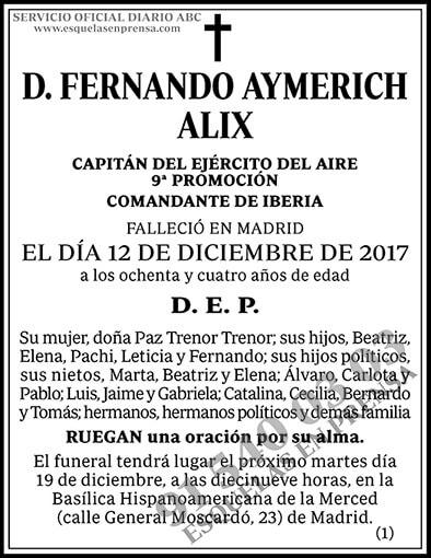 Fernando Aymerich Alix